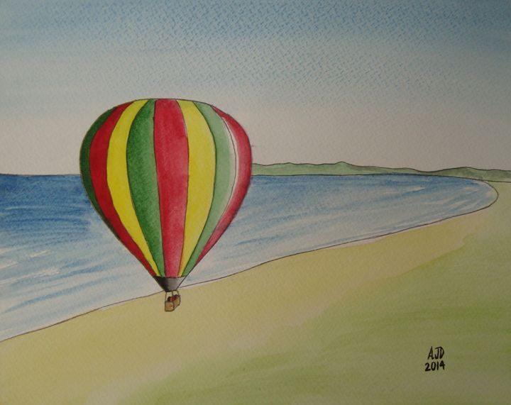 Hot air balloon over the coast - Adam Darlingford