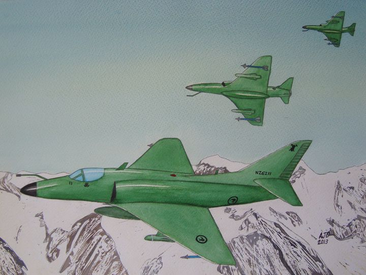 Skyhawks over the Southern Alps - Adam Darlingford