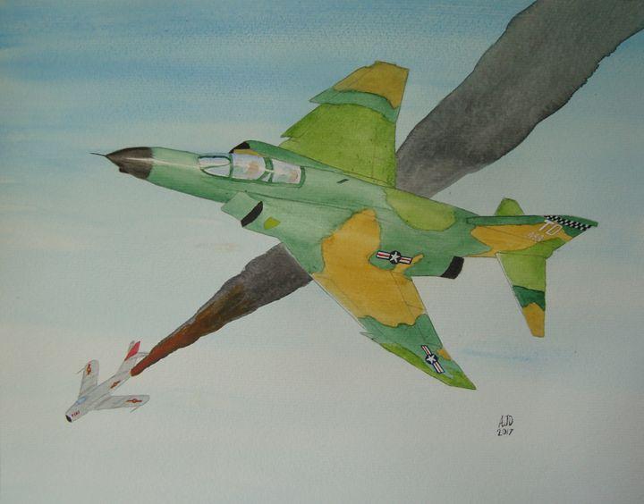 Phantom vs MiG17 - Adam Darlingford