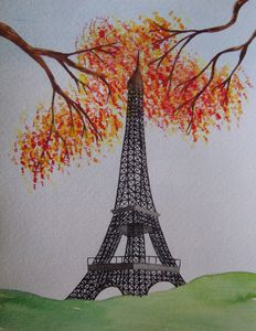 Eiffel Tower in Autumn