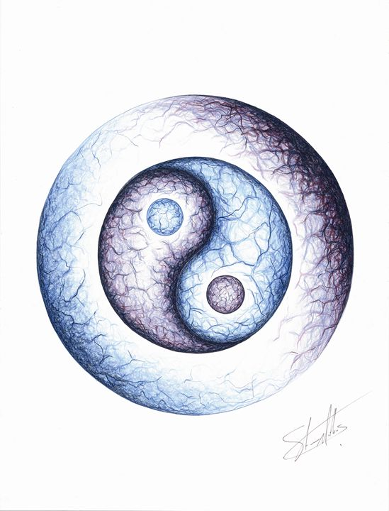 Life Spark Yin Yang - Spaced Out Art