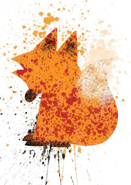 Sitting fox - Lukas Prints