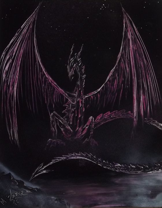 She Dragon #11 - Rattle Can Spray Paint Art: By Mark Loehr