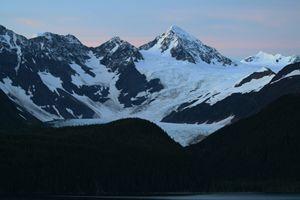 Sunset On Glacier