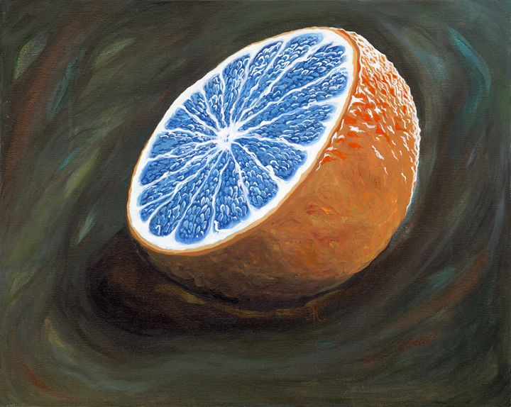 Blue Blood Orange - Jo Shmo Art
