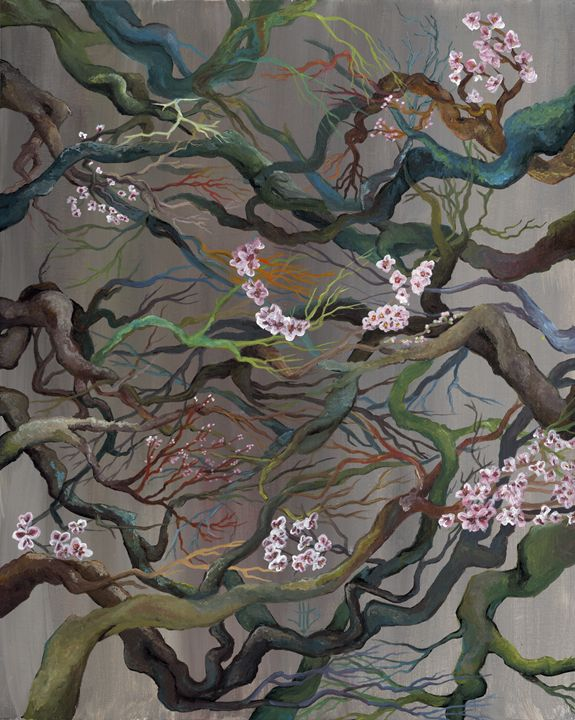 Twisted Cherry Blossoms - Jo Shmo Art