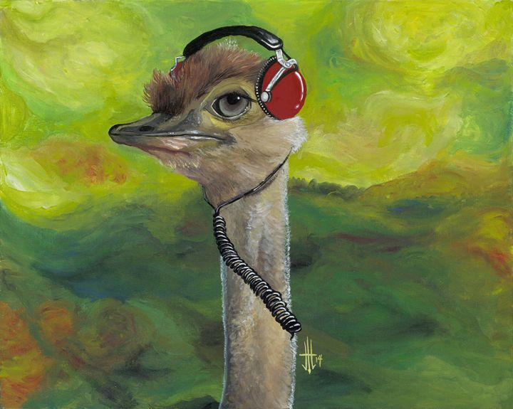 Sweet Pam the Jam Ostrich - Jo Shmo Art