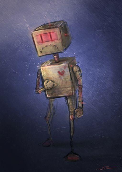 Sad Robot - Nicole Fisher Art & Design