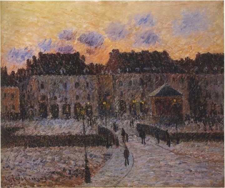 Port of Dieppe fish market - APE Paintings & Drawings