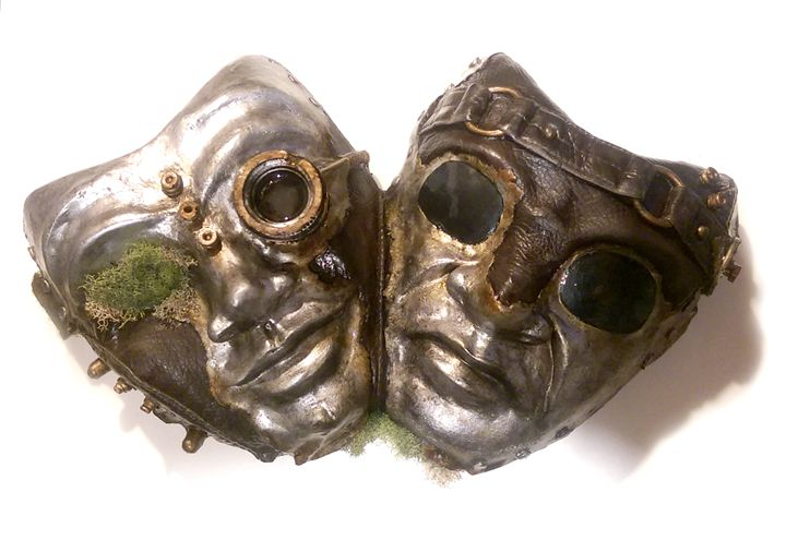 Steampunk comedy/tragedy masks - Gabriel Design