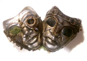 Steampunk comedy/tragedy masks
