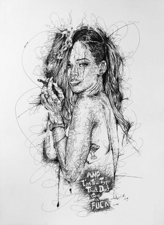 rihanna with smoke - siabeyz art&design
