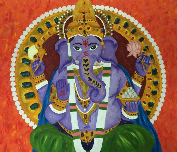 Colourful Ganesha - Kellie Webb's artwork