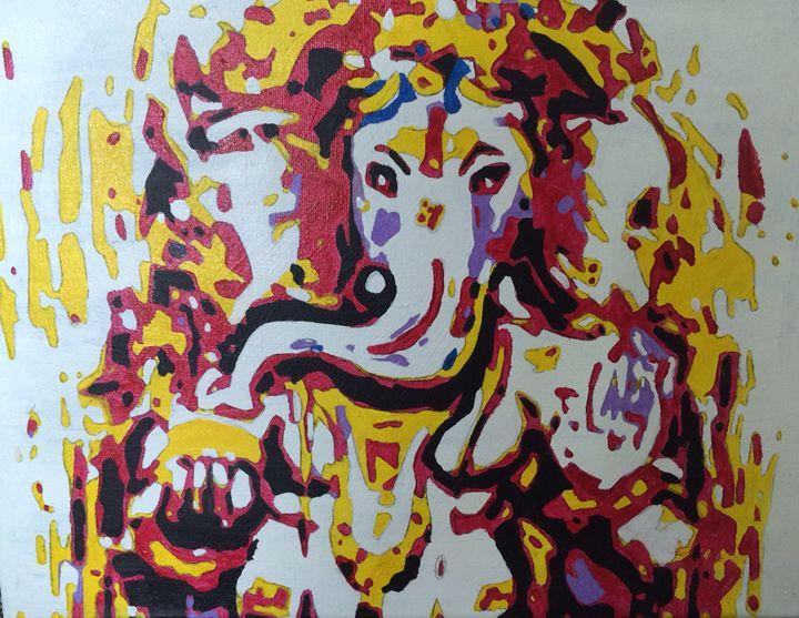 Semi-Abstract Ganesha - Kellie Webb's artwork