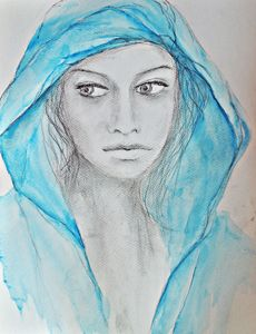 Blue /2/ female portrait
