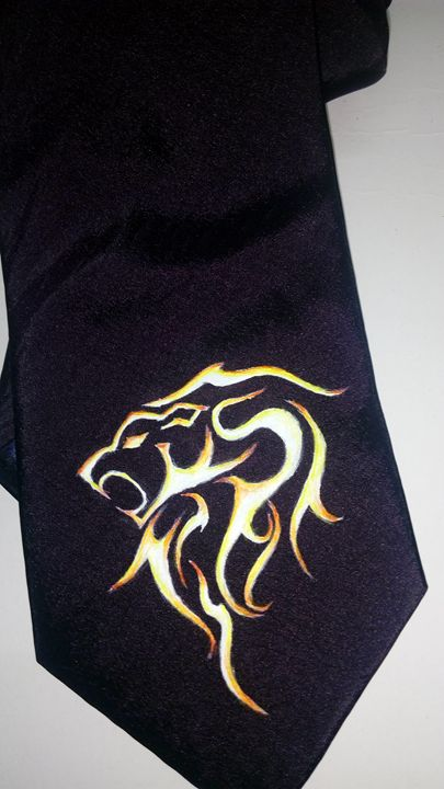 Zodiac sign painted on Neck tie - Abhay