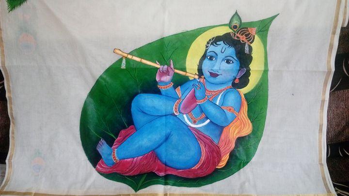 Painted Set and Mundu - Abhay