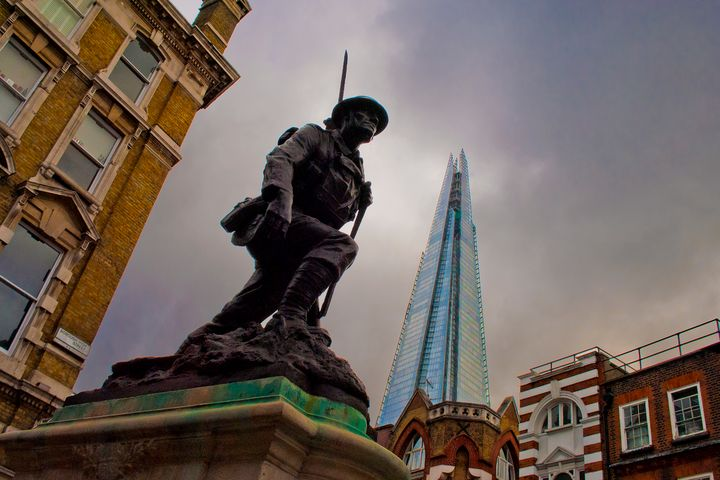 St Saviour's War Memorial The Shard - Andy Evans Photos