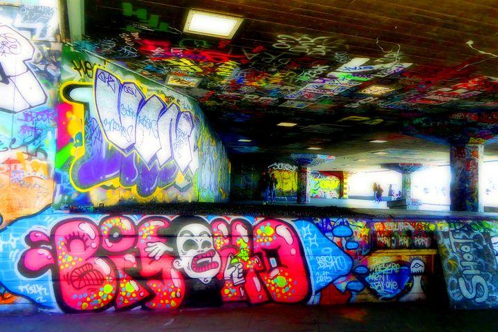 Southbank Skate Park Graffiti Art - Andy Evans Photos