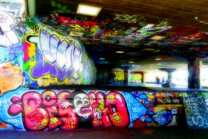 Southbank Skate Park Graffiti Art