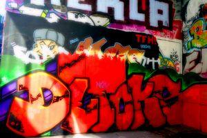 Southbank Skate Park Graffiti Street