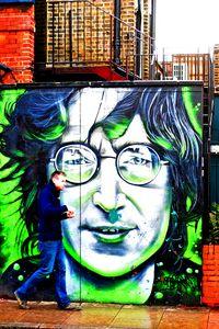 John Lennon Mural Street Art Camden