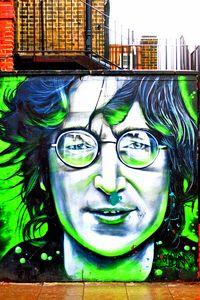 John Lennon Mural, Street Art Camden