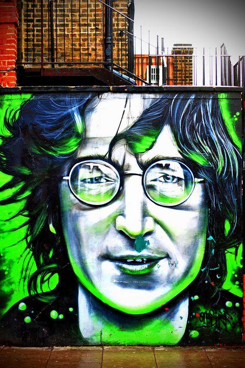 John Lennon Mural Street Art Camden - Andy Evans Photos