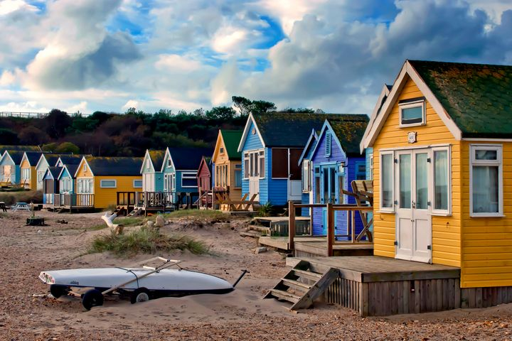 Beach Huts Hengistbury Head Bournemo - Andy Evans Photos