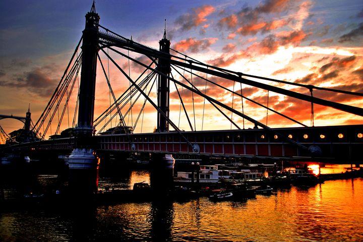 Albert Bridge Sunset River Thames - Andy Evans Photos