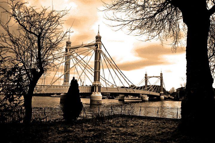 Albert Bridge Sunset River Thames Lo - Andy Evans Photos