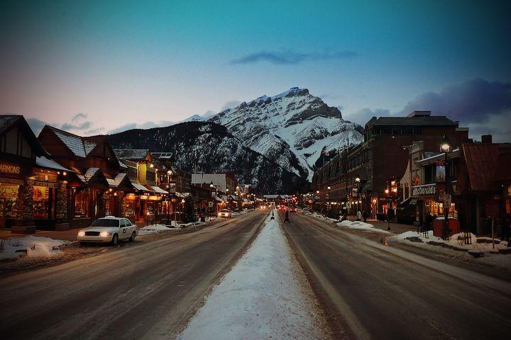 Banff Avenue Alberta Canadian Rockie - Andy Evans Photos