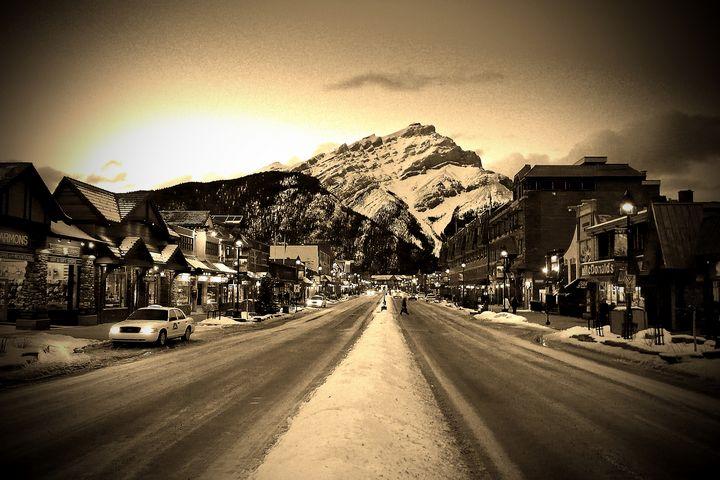 Banff Avenue Alberta Canada - Andy Evans Photos