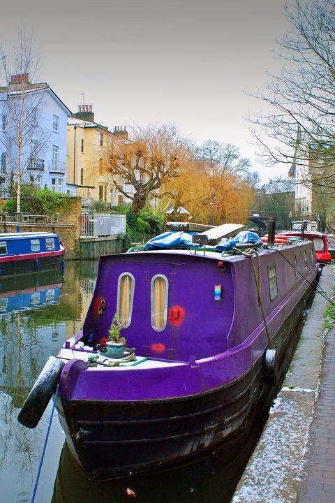 Narrow Boats Regent's Canal Camden - Andy Evans Photos