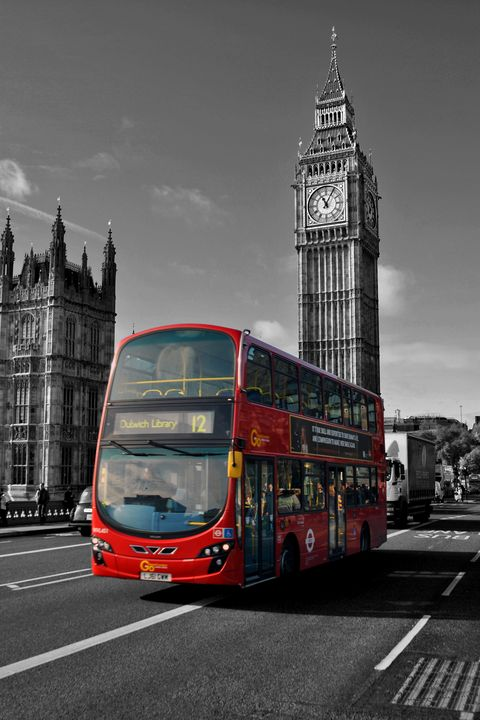 Big Ben Red Bus Westminster London - Andy Evans Photos