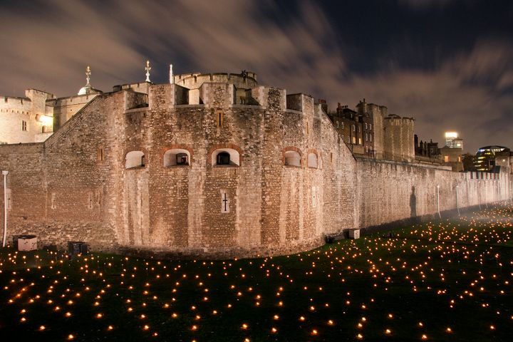Tower of London Torch Lit Candles - Andy Evans Photos