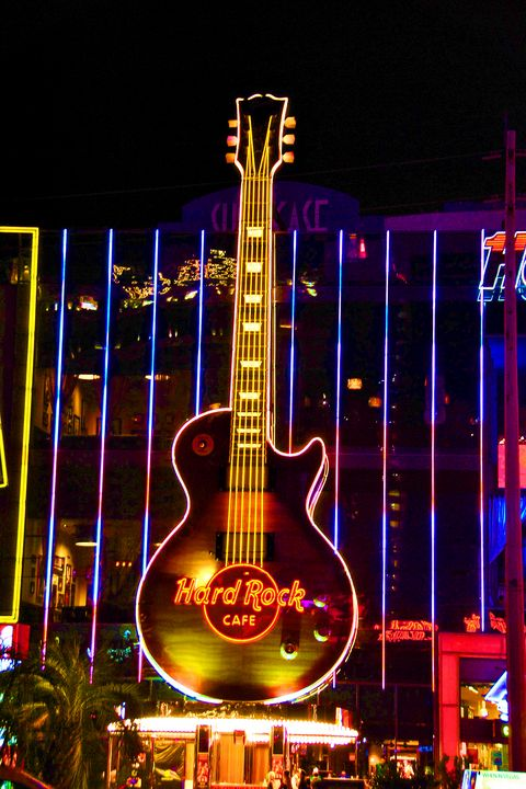 Hard Rock Cafe Guitar Las Vegas USA - Andy Evans Photos