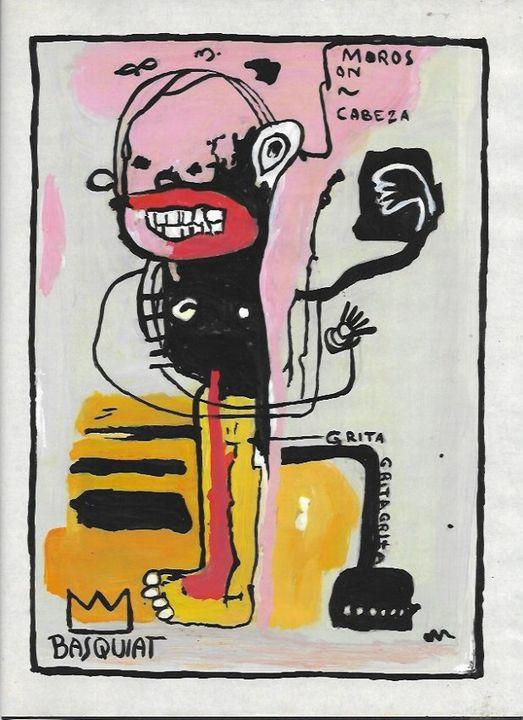 Jean Michel Basquiat-Drawing- - Raquel Medina Artwork