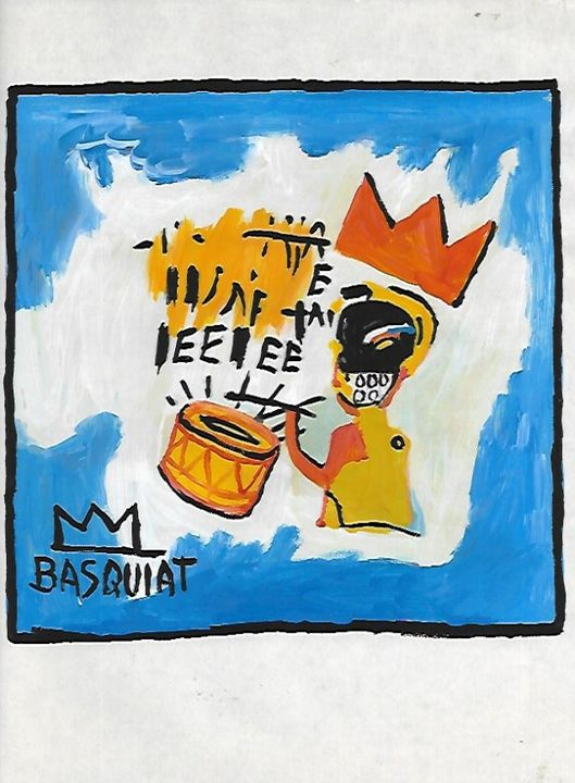 Jean Michel Basquiat-Drawing - Raquel Medina Artwork