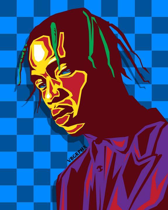 Travis Scott Multi-Colored - VB Graphics
