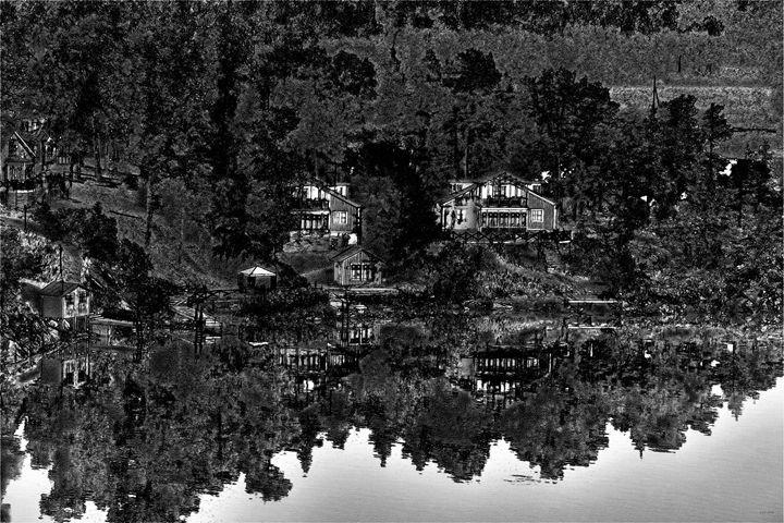 Black and White Landscape Print - Dori Marie