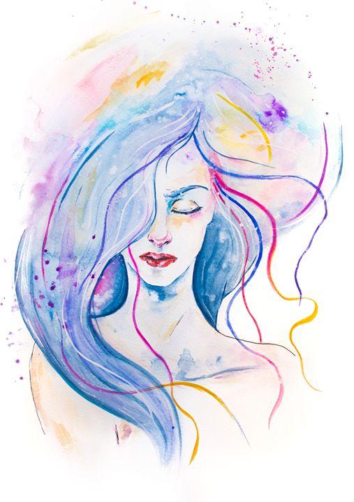 Girl Lost in Her Dream - kalchuuk