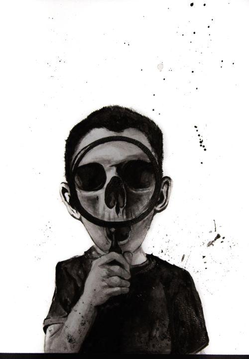 Boy with a Skull - kalchuuk