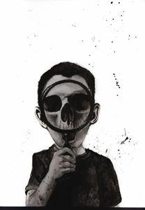 Boy with a Skull