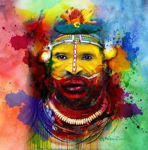 pes bilas (face decoration) - CLINTART