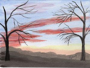 Mountain Sunset West