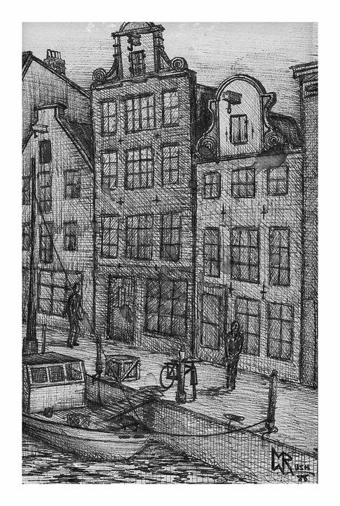 Amstel Gracht, Amsterdam,Netherlands - Michael Rush