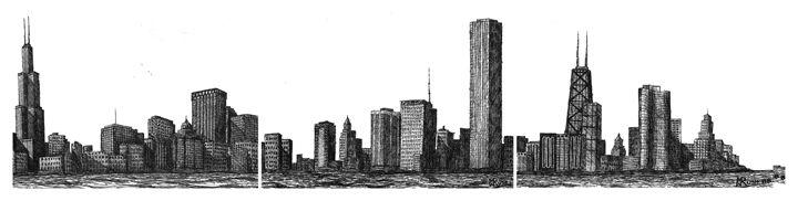 Chicago Skyline, Chicago, USA - Michael Rush