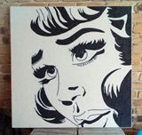 Hand crafted Beaded Popart Artwork