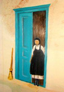Greek Woman in Doorway